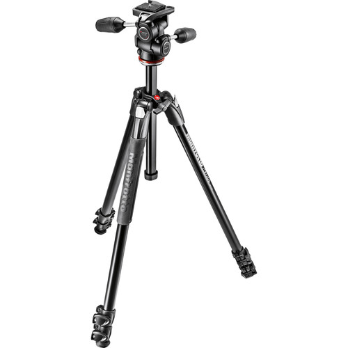 manfrotto mk290xta3-3wus 290 xtra aluminum tripod with 804 3-way pan  tilt head